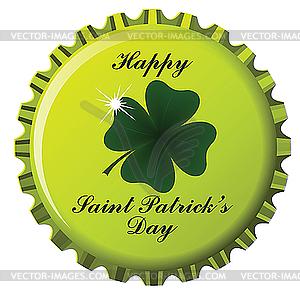 Flaschendeckel zum Tag von St. Patrick - Stock-Clipart