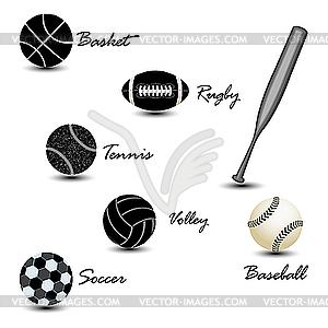 Sport-Bälle - Vector Clip Art