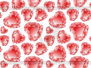 Valentine-Muster mit Diamanten  - Vector-Design