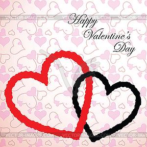 Valentine-Herzen - Vektor-Clipart EPS