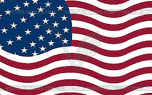 Amerikanische Flagge - vektorisierte Abbildung
