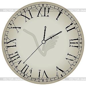 Runde Uhr - vektorisiertes Bild