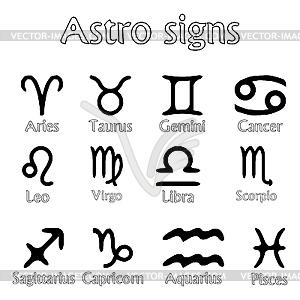Astro-Zeichen - Stock Vektor-Bild