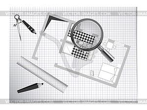 Архитектурное проектирование - векторный клипарт / векторное изображение