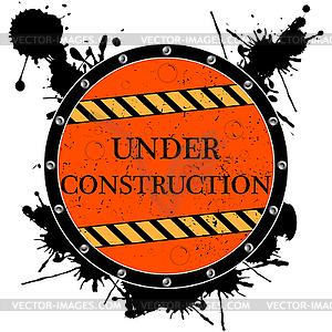 Im Aufbau - Zeichen - Vektor-Bild