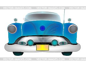 Blaues altes Auto - Vector Clip Art