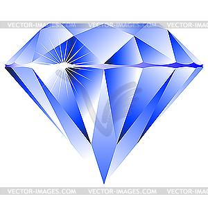 Blauer Brillant - Vektor-Clipart / Vektorgrafik