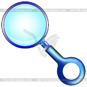 Blaue Lupe - Clipart-Design