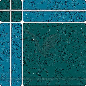 Blaue Keramikfliesen - Vektor-Bild