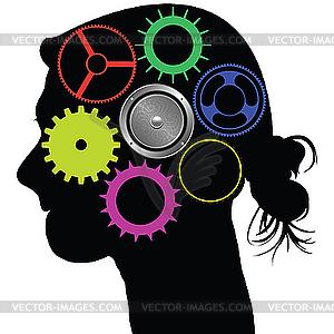 Gehirn-Mechanismus - Vector Clip Art