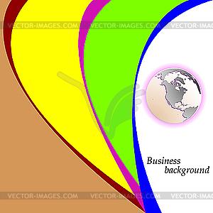 Business-Hintergrund mit Globe von Erde - Vektor-Clipart / Vektorgrafik