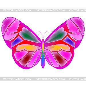 Rosige Schmetterling - Clipart-Design