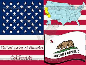Kalifornien - vektorisierte Grafik