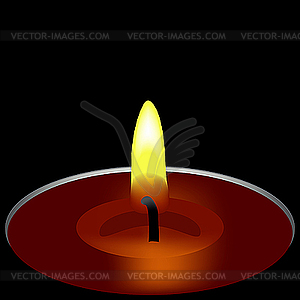 Kerze in der Dunkelheit - Vektor-Bild