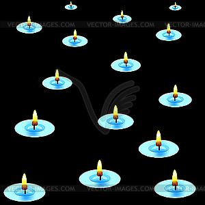 Kerzen in der Dunkelheit - Vector-Clipart