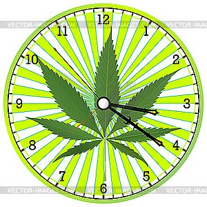 Uhr mit Hanf - Vector-Design