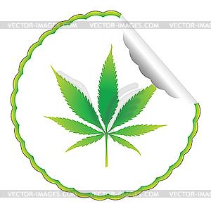 Cannabis-Aufkleber - Vector-Illustration