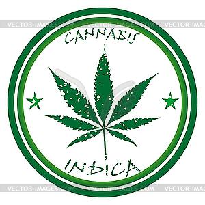 Cannabis-Stempel - Vector Clip Art