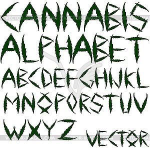 Cannabis-Buchstaben - Vektor-Clipart / Vektorgrafik
