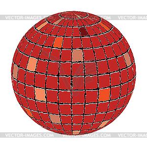Keramikfliesen-Sphäre - Vektor-Abbildung