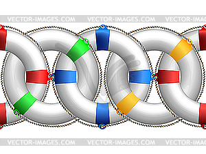 Rettungsbojen - vektorisierte Abbildung