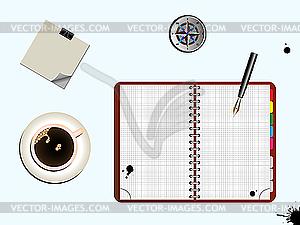 Büro-Set - vektorisierte Grafik