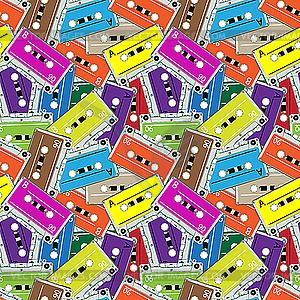 Nahtloses Muster mit Tonbändern - Vector-Illustration