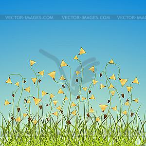 Frühlingsblumen - vektorisiertes Clipart