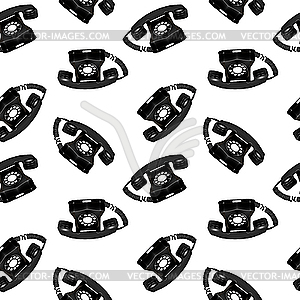 Nahtloses Muster mit Retro-Telefonen - Klipart