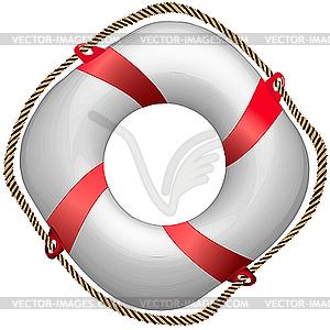 Rote Rettungsring - Vektor-Bild