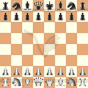 Schachfiguren - Stock Vektor-Bild