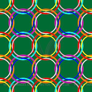 Grünes nahtloses Design mit Kreise - Klipart