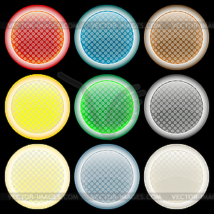 Farbige strukturierte Blasen - vektorisiertes Bild
