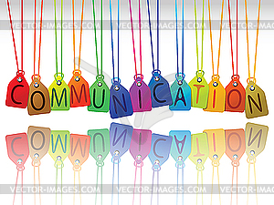 Communication tags - vector clip art