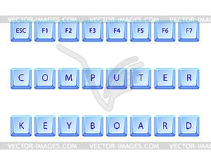 Silbere Tastatur - Stock-Clipart