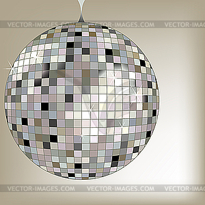 Silbere Disco-Kugel - Vector-Clipart / Vektor-Bild