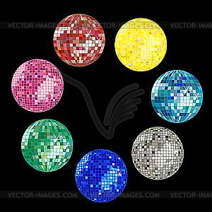 Farbige Disco-Kugeln - Vector-Clipart