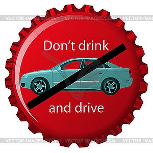 Kein Alkohol und fahren - vektorisiertes Bild