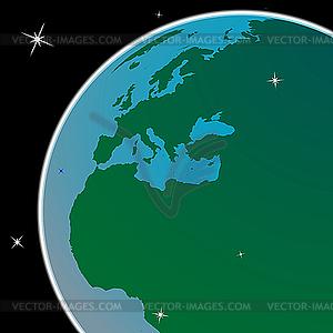 Erde aus dem Weltraum - Klipart