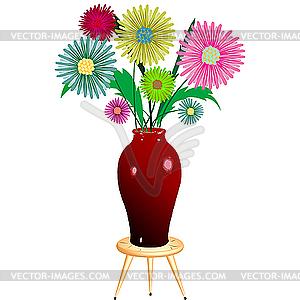 Blumen und Vase - Royalty-Free Clipart