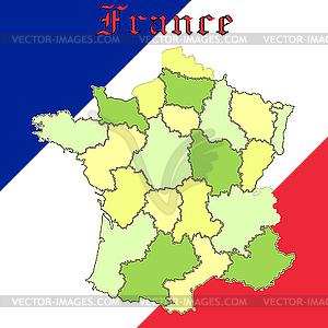 Frankreichs Karte - Vector-Illustration