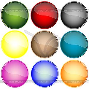 Futuristische Webbuttons - Vector Clip Art