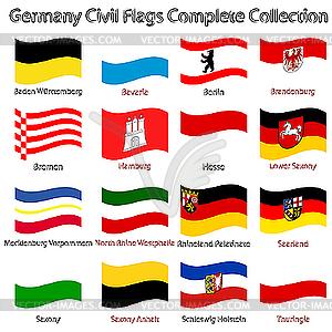 Landflaggen Deutschlands - Vector Clip Art