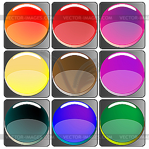 Webbuttons - farbige Vektorgrafik