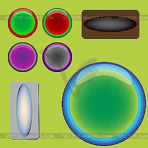 Webbuttons - vektorisierte Abbildung