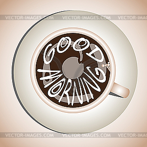 Frühkaffee - farbige Vektorgrafik