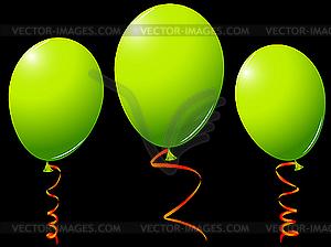 Grüne Luftballons - Clipart-Design