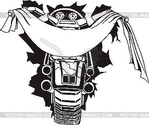 Motorrad-Vorlage - Vektorgrafik