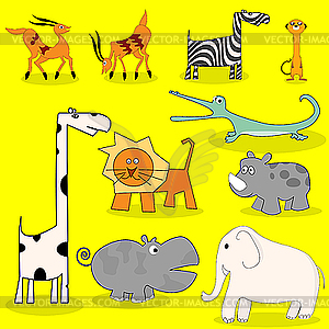 Afrikanische Wildtiere - Vektor Clip Art