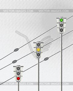 Ampeln - Vector-Clipart / Vektorgrafik